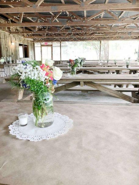 PHOTO: Fresh flowers from Trader Joe's used to create DIY wedding centerpieces. (Jessica Hoyle-King)