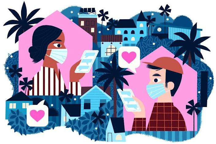"""How would COVID-19 shape my dating landscape? For the better. <span class=""""copyright"""">(Loris Lora / For The Times)</span>"""