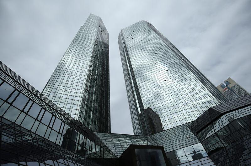 FILE PHOTO: The Deutsche Bank headquarters are pictured in Frankfurt, Germany, April 25, 2019. REUTERS/Ralph Orlowski