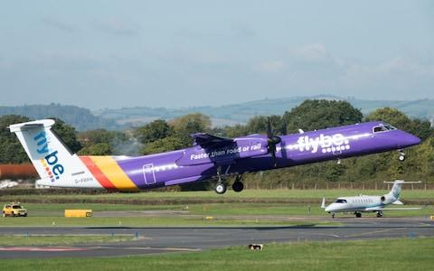 <span>A FlyBe aircraft</span> <span>Credit: Getty </span>