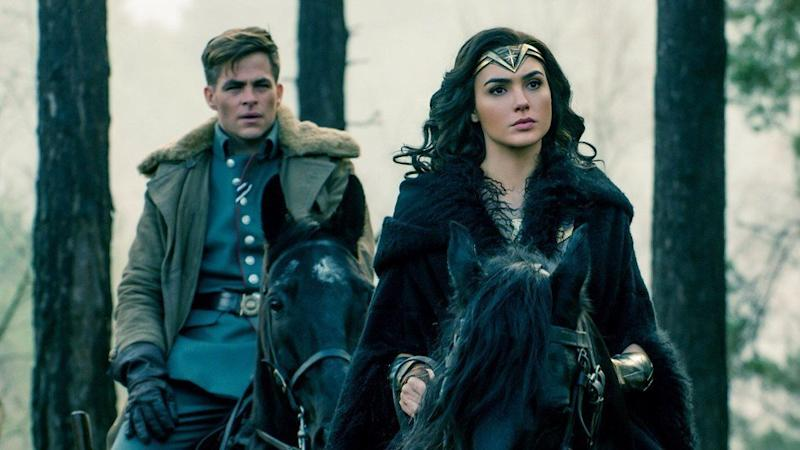 Wonder Woman with her love interest int he film, Steve Trevor.