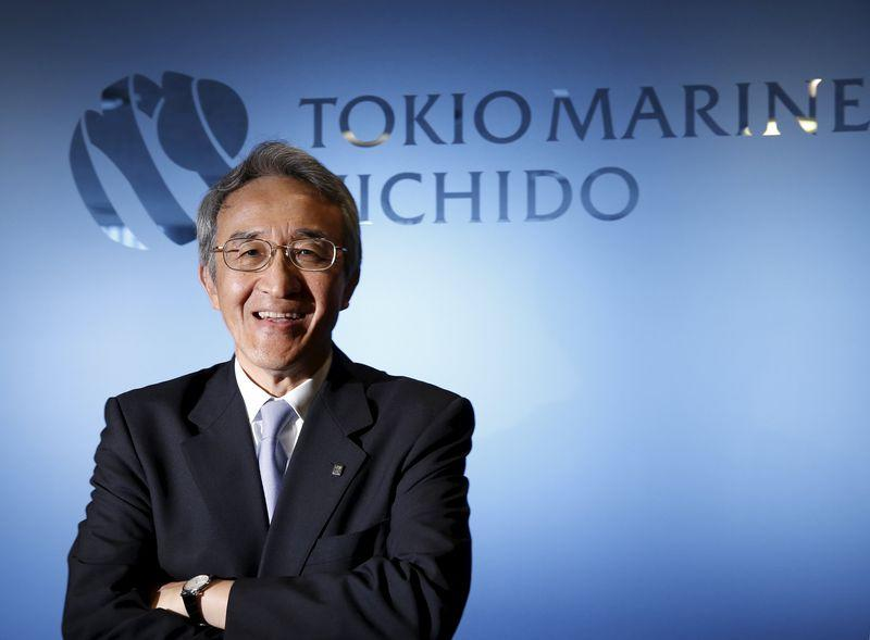 Tokio Marine Holdings Inc President and CEO Nagano poses for a photo at the company headquarters in Tokyo