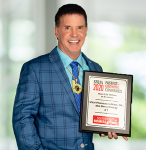 Bang® Energy is proud to be named the #1 FASTEST GROWING COMPANY in 2020 by the South Florida Business Journal.