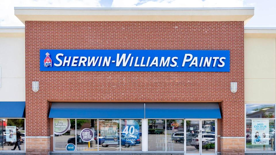 Toronto, Canada - June 22, 2019: Sherwin-Williams Paint Store storefront in Toronto.