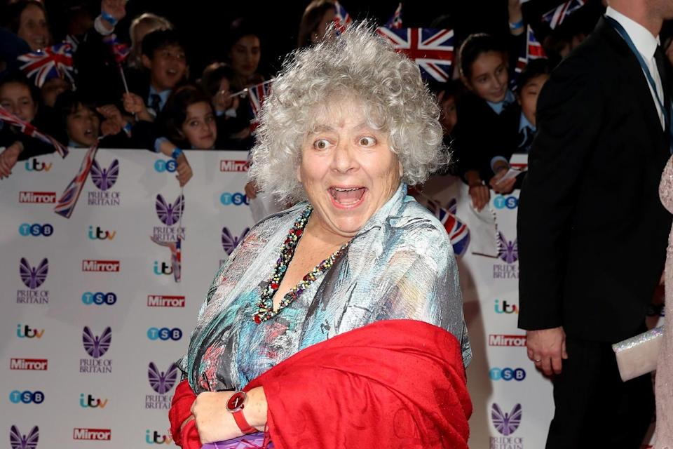 Veteran actress: Miriam Margolyes attends the Pride Of Britain awards in October 2016. (Getty Images)