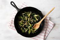 """<p>You can use this easy mixture of sautéed scallions and garlic in place of wild ramps-which can be hard to find and pricy-in just about any dish. Add the mixture to omelets and sauces, stir-fry it with rice and the protein of your choice, serve it with steak, fish or chicken and chop it up and add it to compound butter. Read more about <a href=""""https://www.eatingwell.com/article/7900400/diaspora-dining-ramps/"""" rel=""""nofollow noopener"""" target=""""_blank"""" data-ylk=""""slk:ramps"""" class=""""link rapid-noclick-resp"""">ramps</a>.</p>"""