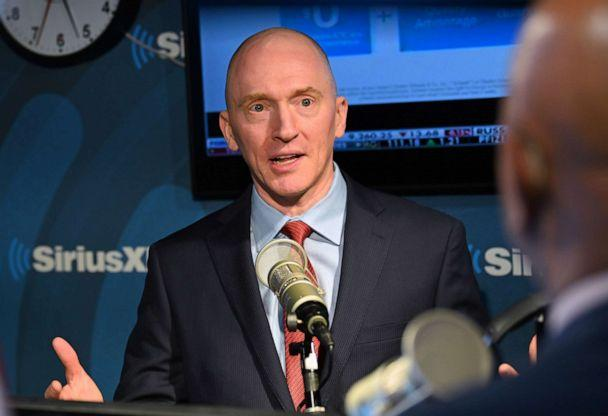 PHOTO: Carter Page, former foreign policy adviser to Donald Trump during his 2016 Presidential Election Campaign, is interviewed on 'The David Webb Show' in New York, Jan. 14. (Slaven Vlasic/SiriusXM via Getty Images, FILE )