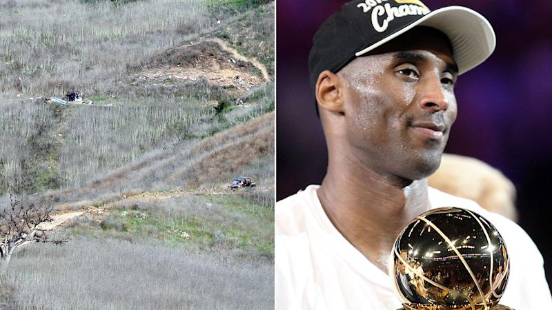 Treacherous terrain is making the investigation into the deaths of Kobe Bryant and eight others difficult. Pic: Getty