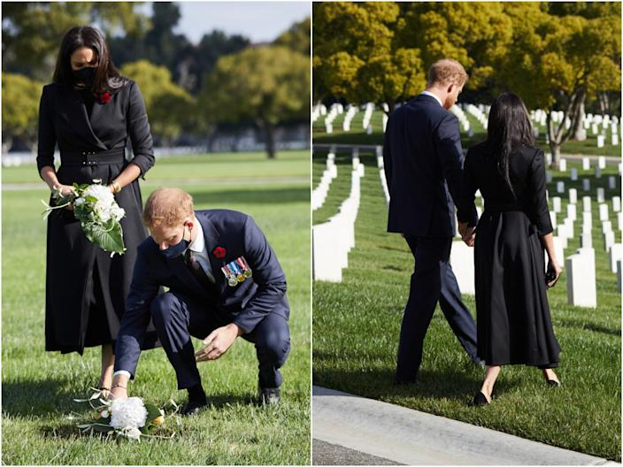harry and meghan remembrance photos LA
