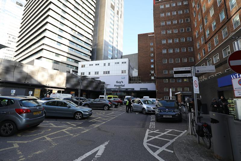 General view of Guy's Hospital in central London.