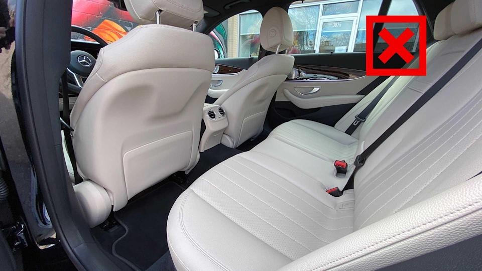 """<p>We've already said that at its maximum, the GLE can haul more stuff. But it'll also be a smidge more comfortable for passengers, too. The high-rider's wheelbase is 2.2 inches longer than our E450 tester, and that allows for a big 4.8 inches of additional legroom in the second row.</p> <p>The E-Class still has a respectable 36.1 inches of leg space, but that sort of a difference is very difficult to ignore, especially if you're regularly toting about gangly teenagers or tall adults on a regular basis. That said, the E-Class does have more headroom overall, but the roughly 1.5-inch differences isn't enough to make up for the disparity in legroom.</p><ul><li><a href=""""https://www.motor1.com/reviews/308487/2018-mercedes-amg-e63s-wagon-review/?utm_campaign=yahoo-feed"""" rel=""""nofollow noopener"""" target=""""_blank"""" data-ylk=""""slk:2018 Mercedes-AMG E63S Wagon Review: Do It All"""" class=""""link rapid-noclick-resp"""">2018 Mercedes-AMG E63S Wagon Review: Do It All</a></li><br></ul>"""