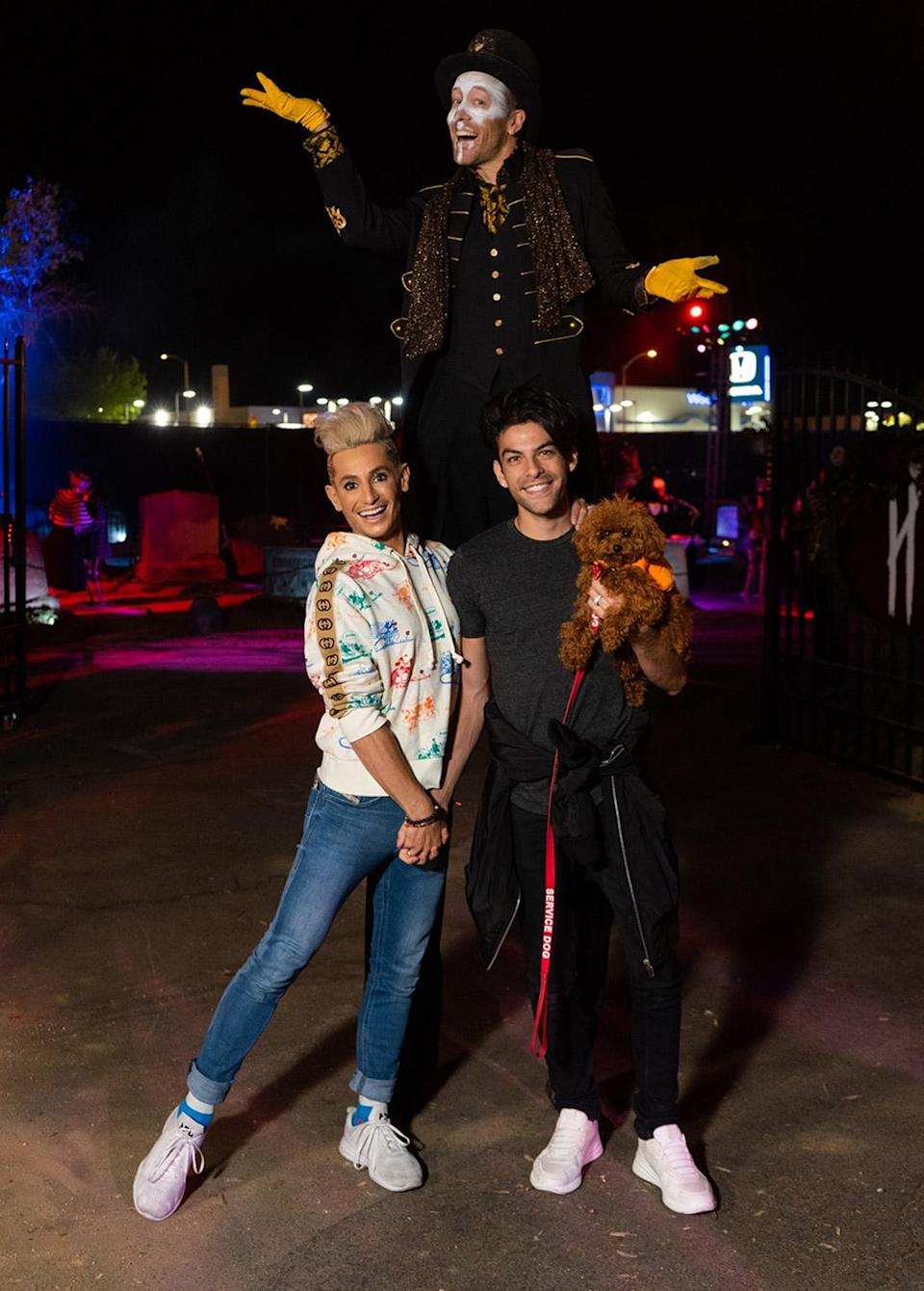 """<p>putting on their """"we're not scared!"""" faces at Haunt'Oween L.A., sponsored by KiwiCo, at The Promenade at Westfield Topanga on Oct. 5.</p>"""