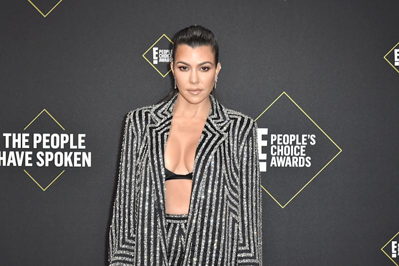 SANTA MONICA, CALIFORNIA - NOVEMBER 10: Kourtney Kardashian attends 2019 E! People's Choice Awards - Arrivals at The Barker Hanger on November 10, 2019 in Santa Monica, California. (Photo by David Crotty/Patrick McMullan via Getty Images)
