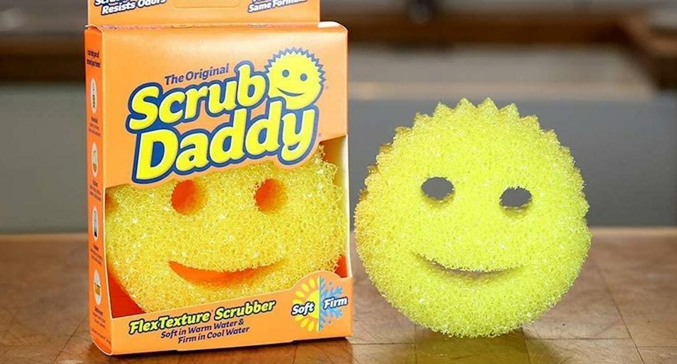 The cleaning sponge is bound to put a smile on your face. (Scrub Daddy)