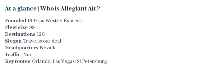 At a glance | Who is Allegiant Air?