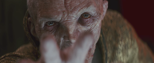 Snoke lashes out at Rey. (Photo: Lucasfilm)