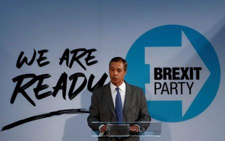 FILE PHOTO: Brexit Party news conference in London