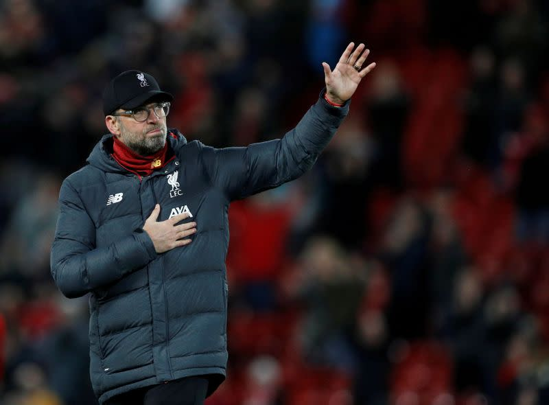 Liverpool will not ease up after sealing title, says Klopp