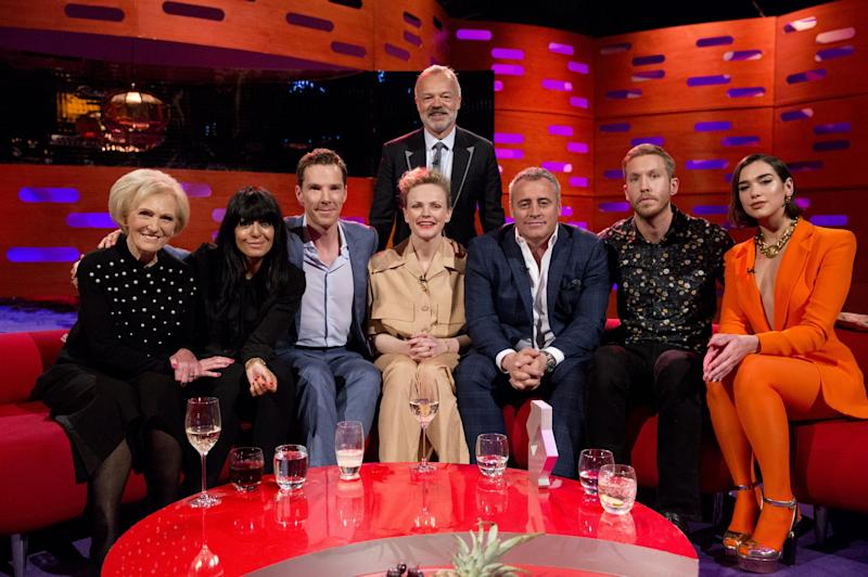 Good company: Mary Berry was among the guests on The Graham Norton show - revealing a shocking story from her past: PA Images on behalf of So TV/PA Wire