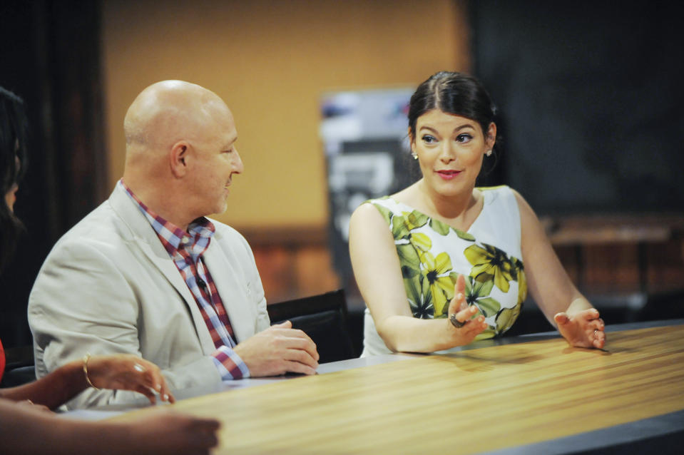 Judges Tom Colicchio, Gail Simmons in the