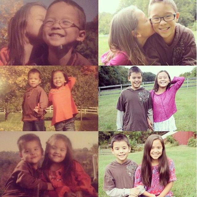 Aaden, Alexis, Collin, Hannah, Joel, and Leah Gosselin. (Photo: Kate Gosselin via Instagram)