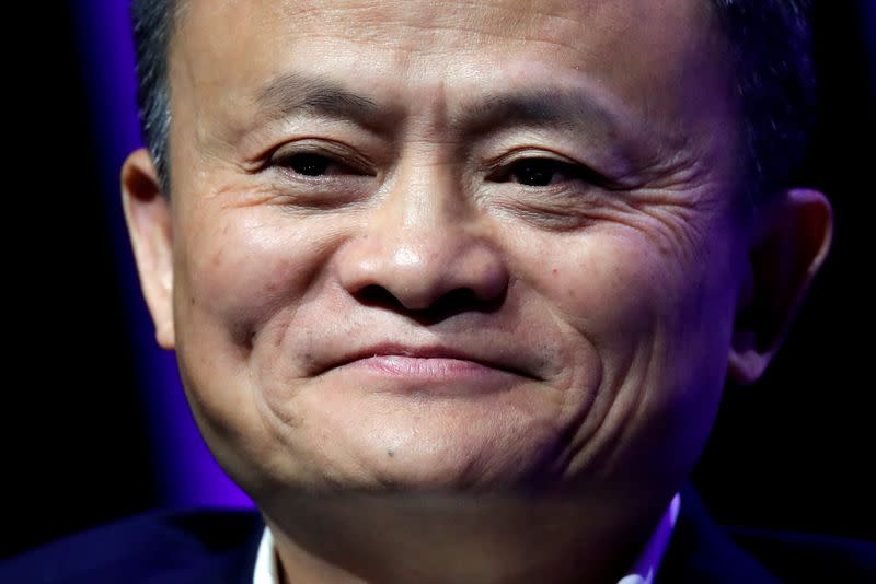 FILE PHOTO: Alibaba Chairman Jack Ma speaks at VivaTech fair in Paris