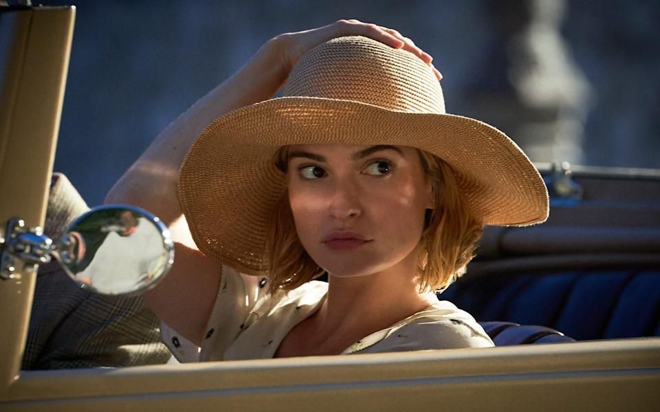 Lily James as Mrs de Winter in Wheatley's 2020 adaptation of Rebecca - Kerry Brown / Netflix