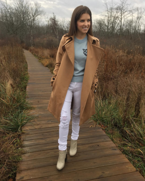 "<p>The <i>Pitch Perfect</i> actress had a relaxing stay in her hometown of Portland, Maine. Always funny, she referred to herself as ""a big dumb smiling idiot on a walk."" (Photo: <a rel=""nofollow"" href=""https://www.instagram.com/p/BNP2NPqg0s8/?taken-by=annakendrick47&hl=en"">Instagram</a>) </p>"