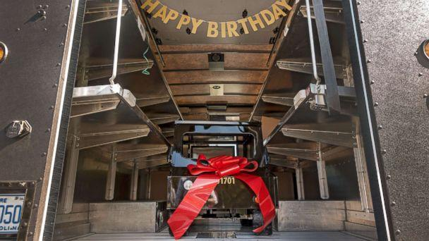 PHOTO: UPS driver Kellie Martin submitted James Walker, 5, for UPS's Wishes Delivered campaign, which delivers mini-UPS trucks to deserving children and organizations around the world, to surprise him for his fifth birthday. (UPS)