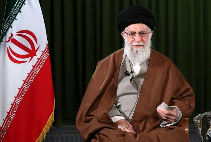 In an address to the nation on Friday, supreme leader Ayatollah Ali Khamenei pledged that the country would triumph over the virus (AFP Photo/-)