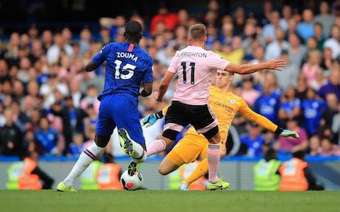 Arrizabalaga was on hand to rescue Chelsea from last-gasp calamity against Leicester - Credit: GETTY IMAGES