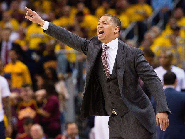 Tyronn Lue makes a point. (Getty Images)