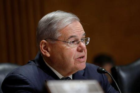 Sen. Robert Menendez speaks during a Senate Foreign Relations hearing on the conflict in Syria on Capitol Hill