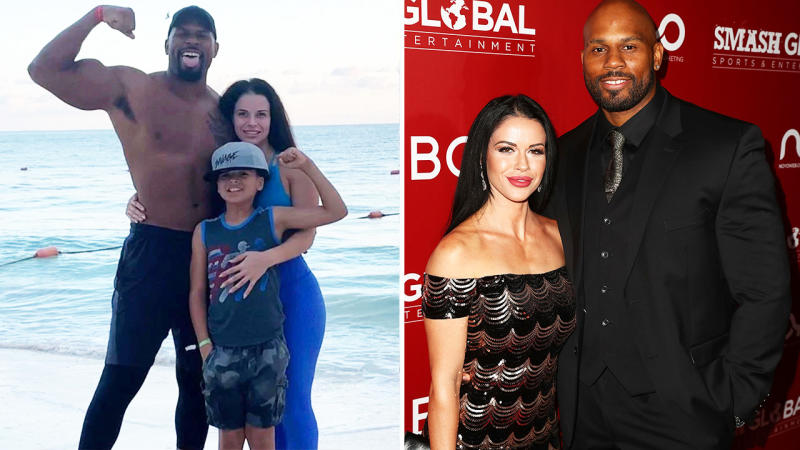 Shad Gaspard, pictured here with his wife and young son before his death.