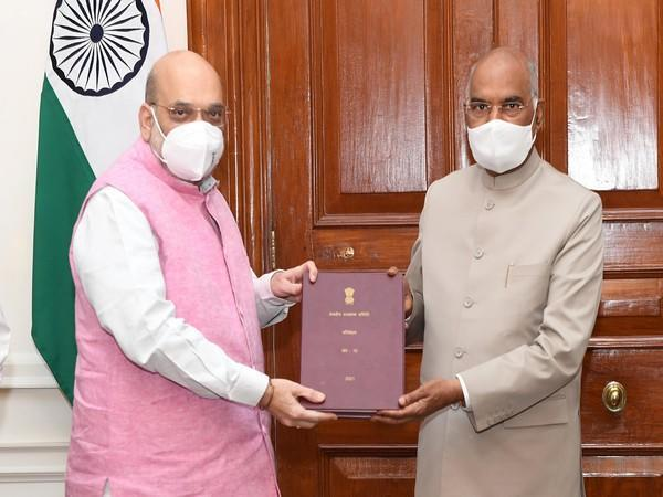 Union Home Minister Amit Shah and President Ram Nath Kovind. (Photo/Twitter)