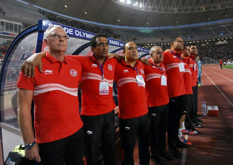 CS Sfaxien coach and former Dutch star Ruud Krol (L) is on track to win the CAF Confederation Cup a second time with the Tunisian club