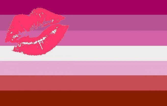 """<p>Interestingly, this flag is controversial—and now considered outdated in favor of a newer version (next slide). This one was designed by Natalie McCray in 2010 to celebrate <a href=""""https://www.elitedaily.com/dating/femme-lesbian-misconception-myth-dating/1987140"""" rel=""""nofollow noopener"""" target=""""_blank"""" data-ylk=""""slk:lesbian femmes"""" class=""""link rapid-noclick-resp"""">lesbian femmes</a> but isn't necessarily loved for its lack of inclusivity. </p>"""