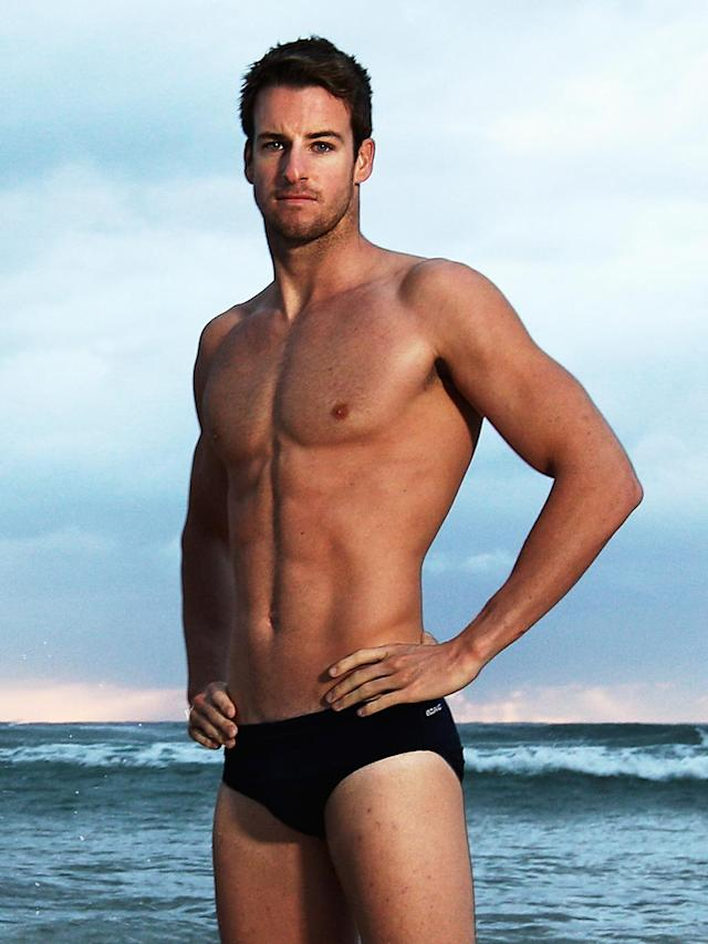 James Magnussen of Australia poses during an Australian swimming portrait session on Manly Beach on March 25, 2012 in Sydney, Australia. (Photo by Ryan Pierse/Getty Images)