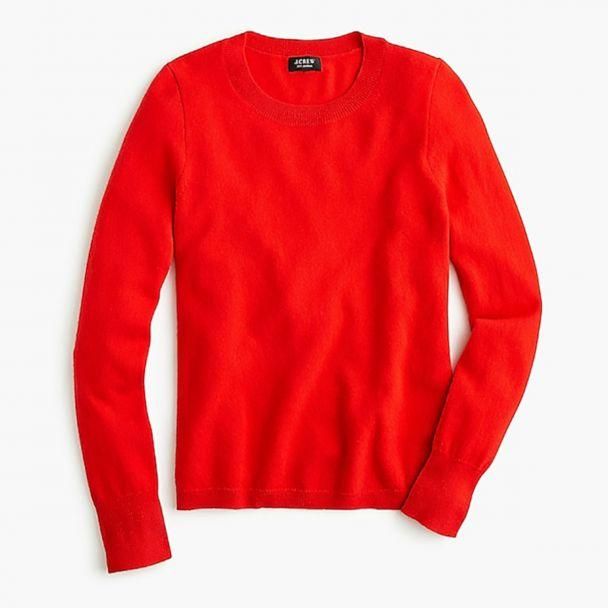 PHOTO: Style Hint: Layer this trim fitting sweater over a colorful shirt. We see it with a silk fuchsia blouse with the shirt tail untucked so it flutters out underneath. (J. Crew)