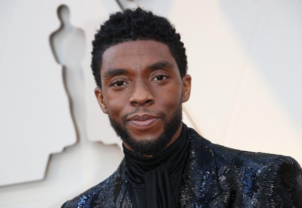 Boseman at the Academy Awards ceremony in Los Angeles in February 2019. (Photo: Dan MacMedan via Getty Images)