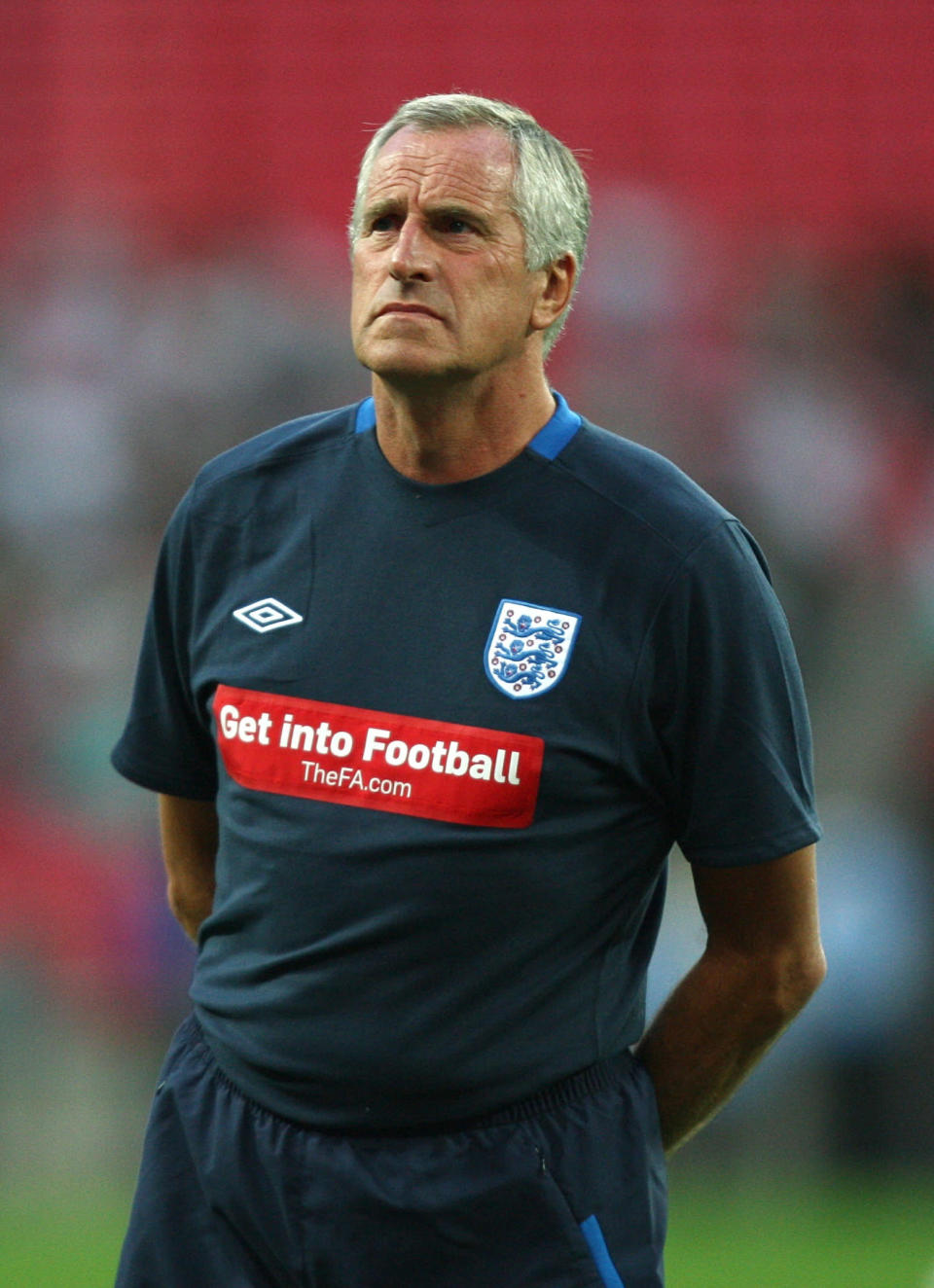 FILE - In this Sept. 3, 2010 file photo, England goalkeeper coach Ray Clemence is photographed. Ray Clemence, the former Liverpool, Tottenham and England goalkeeper, has died. He was 72. The Football Association confirmed the news Sunday, Nov. 15, 2020 without giving a cause of death. (David Davies/PA via AP, File)