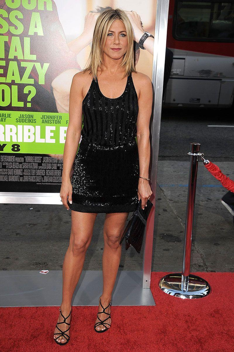 <p>The sequin embellishments on Jennifer Aniston's dress for the premiere of <em>Horrible Bosses </em>ensured the star is always red carpet ready. </p>