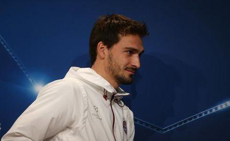 Bayern Munich's Mats Hummels during the press conference