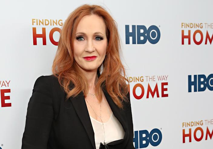 """JK Rowling attends HBO's """"Finding The Way Home"""" World Premiere at Hudson Yards on December 11, 2019 in New York City. (Photo by Cindy Ord/WireImage,)"""