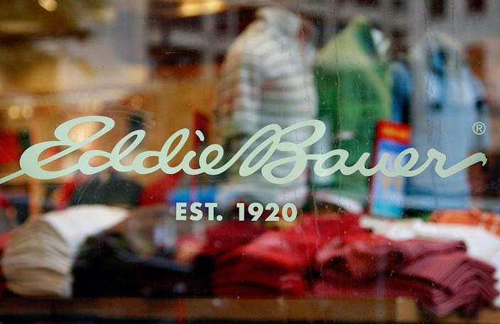 eddie bauer CHICAGO - JUNE 17: The Eddie Bauer logo is shown on a store along Michigan Avenue June 17, 2009 in Chicago, Illinois. Today, Eddie Bauer Holdings Inc. filed for Chapter 11 bankruptcy and said it would seek approval to sell its assets to CCMP Capital Advisors LLC, a private equity firm, for $202 million. (Photo by Scott Olson/Getty Images)