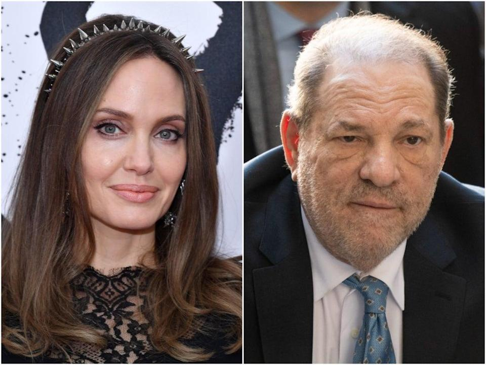 Jolie made the claims about Weinstein in a new interview (Getty)