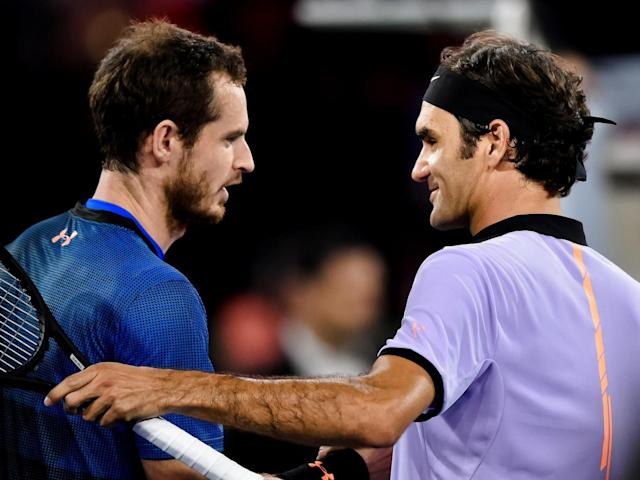 Murray made his return in an exhibition match against Federer (Getty)