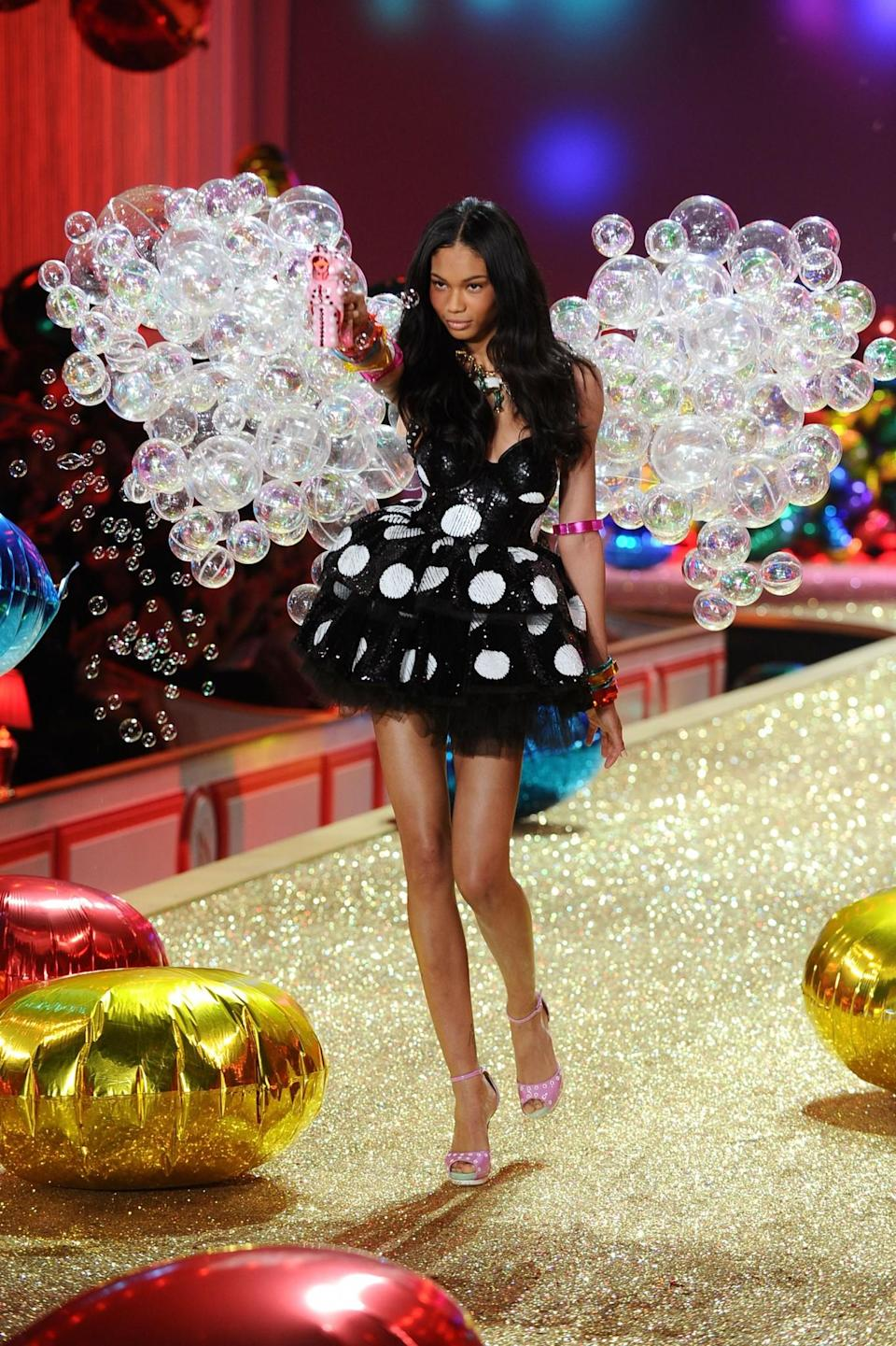 <p>Just like a fairytale, Chanel floated onto the catwalk literally in a bubble in 2010. [Photo: Getty] </p>