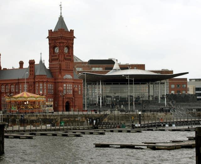 The Senedd in Cardiff Bay