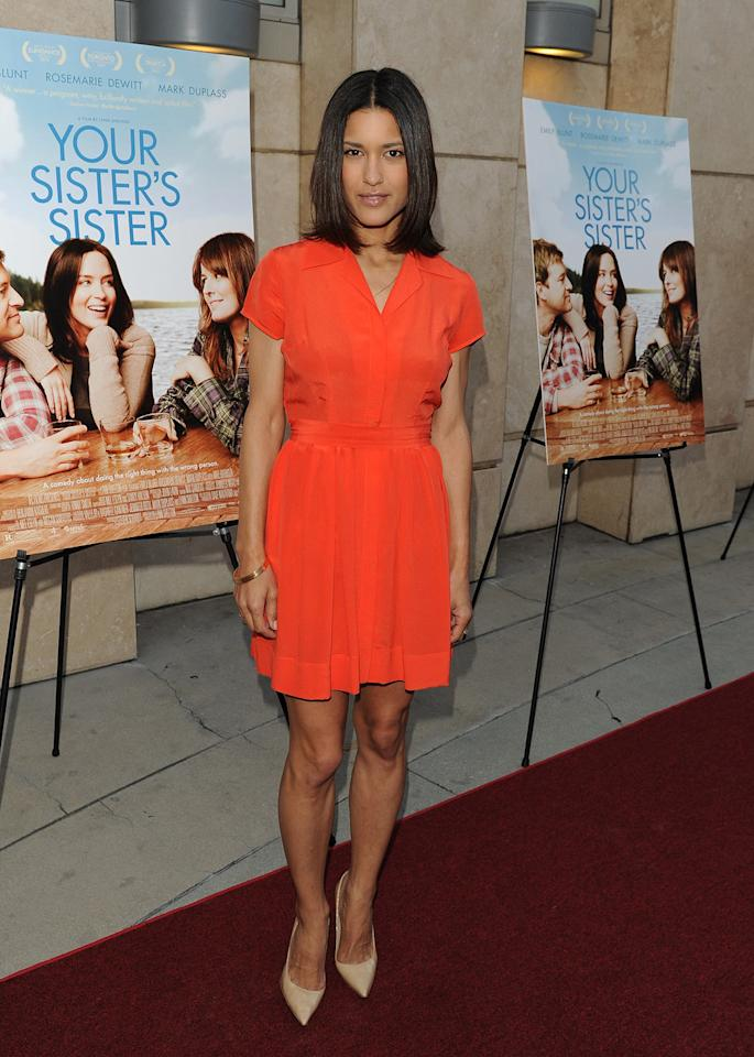 Julia Jones arrives at the Los Angeles premiere of 'Your Sister's  Sister' at ArcLight Cinemas on June 11, 2012 in Hollywood, California.